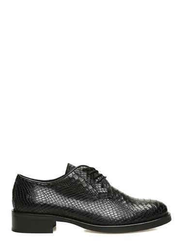 George Hogg George Hogg 7004234 Siyah Kroko Dokulu Kadın Deri Ayakkabı Kadın Ayakkabı Siyah